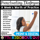 Quotation Marks Punctuating Dialogue Lesson with a Week's
