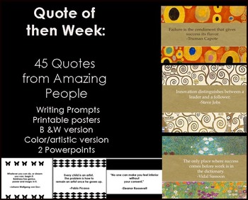 Quotes - Quote of the Week-Middle & HS Lesson