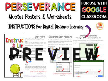 Perseverance Quotes Posters and Activities
