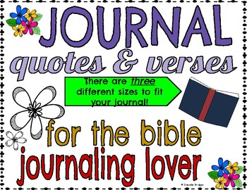 Quotes & Verses for Bible Journaling  in 3 different sizes