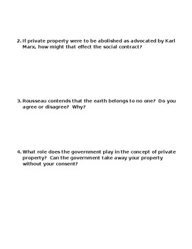 Quotes about private property with discussion questions-- State of Nature