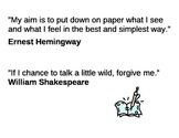 Quotes about writing Posters for Writer's Workshop