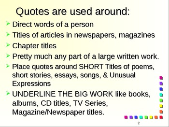 Quotes and Underlining Powerpoint Review