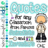 Quotes for ANY Classroom from Famous Scientists Volume 1 ~