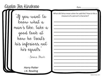 Quotes for Kindness - Writing Prompts