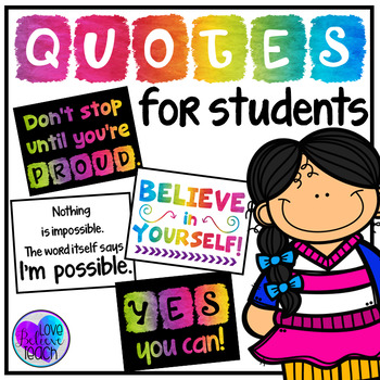 Quote Posters for Students