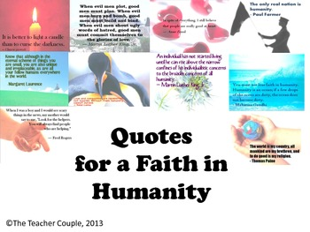 Quotes for a Faith in Humanity