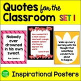 Inspirational Quotes for the Classroom Set #1