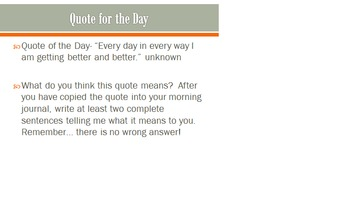 Quotes for the Day Response Powerpoint