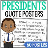 USA President Quote Posters Set (48), Writing Prompts, Copy and Memory Work