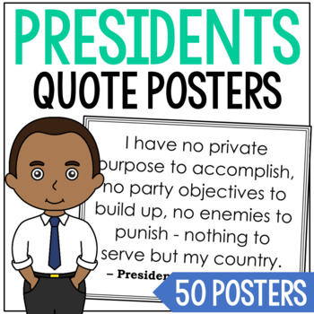 USA President Quote Posters Set, Writing Prompts, Copy and