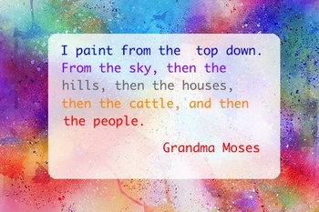 Quotes from Women Artists - 10 Watercolor Backgrounds