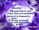 Art Quotes, Women Artists - 10 Watercolors Posters, 10 Famous Artists