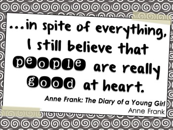 Quotes from Young Adult Novels, Set A: Posters (Black and White)