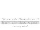 Quotes in Cursive - Henry Ford