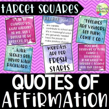 Quotes of Affirmation [Target Squares]