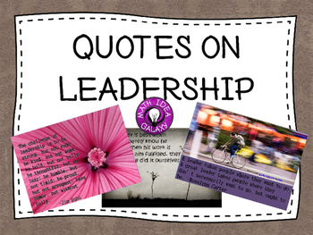 Quotes on Leadership for Students
