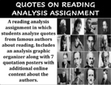 Quotes on Reading Analysis Assignment