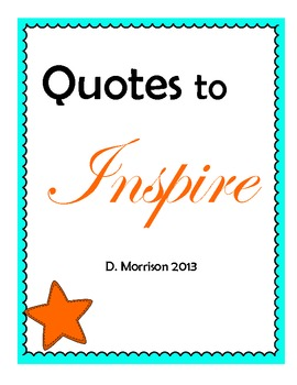 Quotes to Inspire your Students