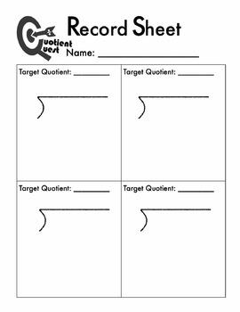 Division Estimation & Practice Game: Quotient Quest