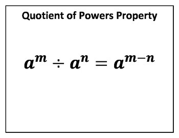 Quotient of Powers Property Concept Clue
