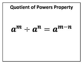 Quotient of Powers Property Concept Clue