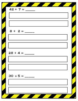 Division Models Worksheet FREEBIE