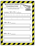 Division Models Worksheet FREEBIE