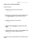 Quotients of Fractions - Modified Word Problems