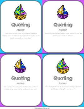Quoting Activity: Quoting Text Reading Game