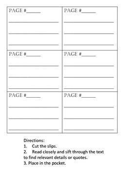 Quoting Accurately From the Text Interactive Notebook Foldable