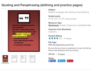 Quoting, Paraphrasing, and Inferring (Bundle)