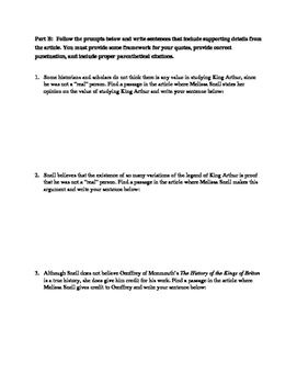 Quoting, Paraphrasing, and Summarizing Practice Worksheet