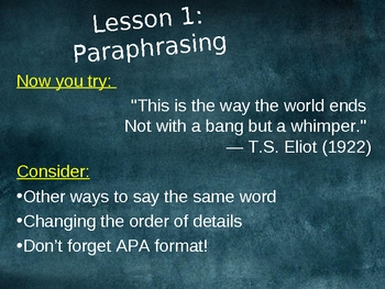 Quoting, Paraphrasing and Summarizing for Research Papers