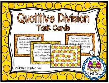 Quotitive Division (Grade 3 GoMath! 6.3)