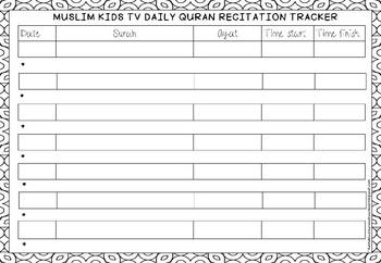 Quran Weekly Practice Tracker