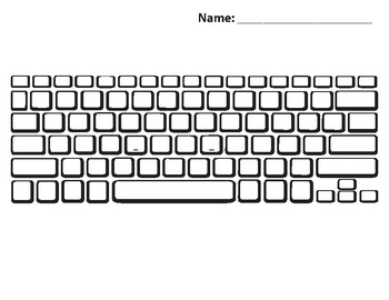 Qwerty Keyboard - Blank Interactive Activity