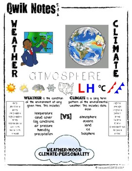 Qwik Notes: Weather & Climate