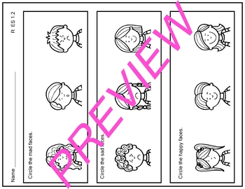 R 1.2 Identify Feelings and Emotions AAA Alabama Alternate Assessment