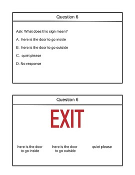 R 10.3 Picture Context Clues & Survival Signs NEW Alabama Alternate Assessment