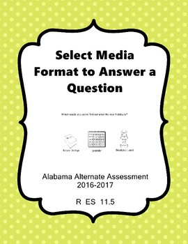 R 11.5 Media Format Needed to Answer Questions NEW AAA
