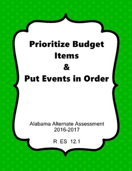 R 12.1 Prioritize Budget & Put Events in Order NEW AAA