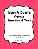 R 12.3 Identify Details from an Informational Text NEW AAA