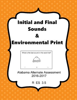 R 3.5 Identify Print in Environment & Beginning/Final Sound NEW AAA