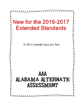 R 4.4 Extended Standards Identify Topic of Test  NEW AAA
