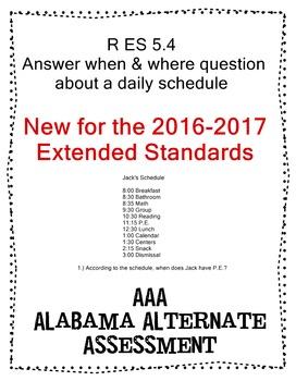 R 5.4 Answer When & Where Questions abt Schedule NEW Exten
