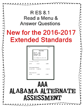 R 8.1 Read a Menu Text  NEW Extended Standards AAA