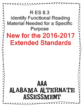 R 8.3 Identify the Functional Material NeededNEW Extended Standards AAA