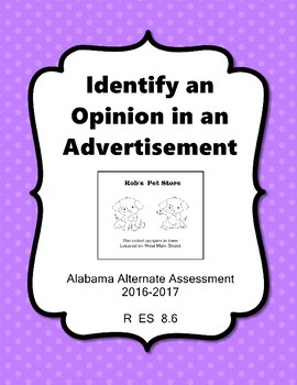 R 8.6 Identify Opinion in an Ad NEW Extended Standards AAA