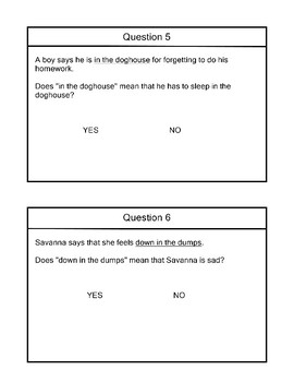 R 9.1 Idioms Figurative Meaing & YES NO Questions  NEW Extended Standards AAA